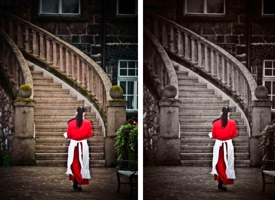 Mustvalge foto – värviliste detailidega