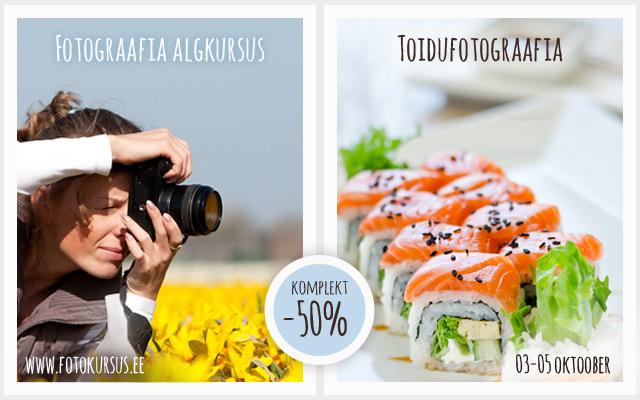 Populaarsete fotokursuste komplekt nädala lõpuni -50%