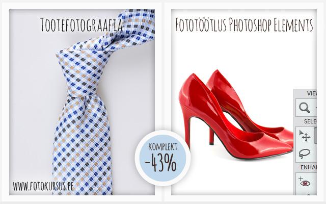 """Uus sooduskomplekt """"Tootefotograafia + Fototöötlus"""". Nädala lõpuni -43%"""