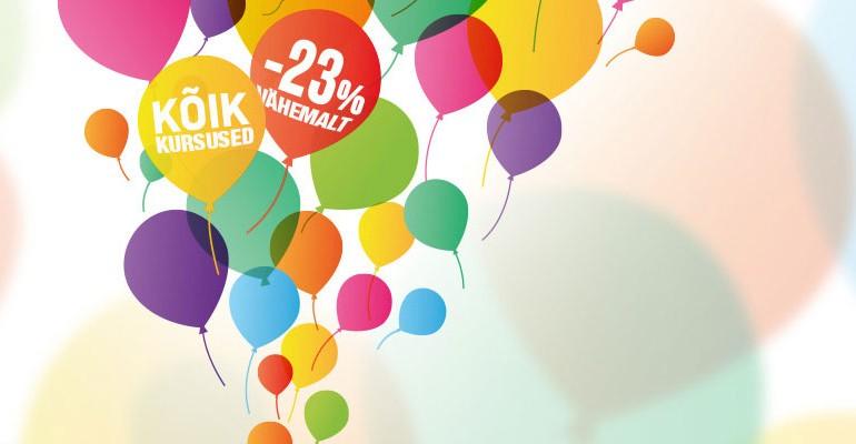 Photopointi 23. sünnipäeva puhul on kõik fotokursused 23% soodsamad