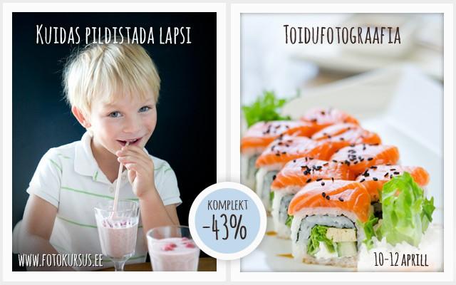 """Uus sooduskomplekt """"Toidufotograafia"""" + """"Kuidas pildistada lapsi?"""". Nädala lõpuni -43% ehk kaks ühe hinnaga"""