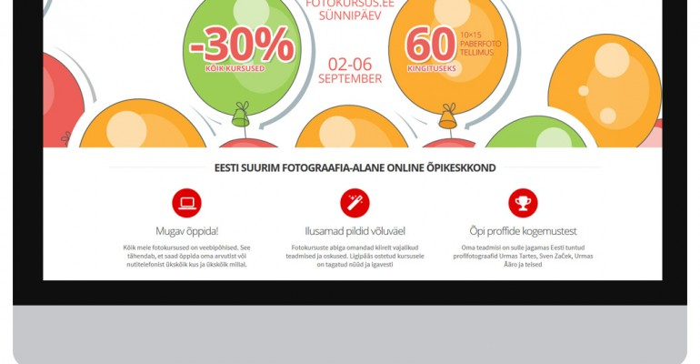 Fotokursuse sünnipäev: kõik kursused -30% ja kingituseks 60 paberfoto tellimus