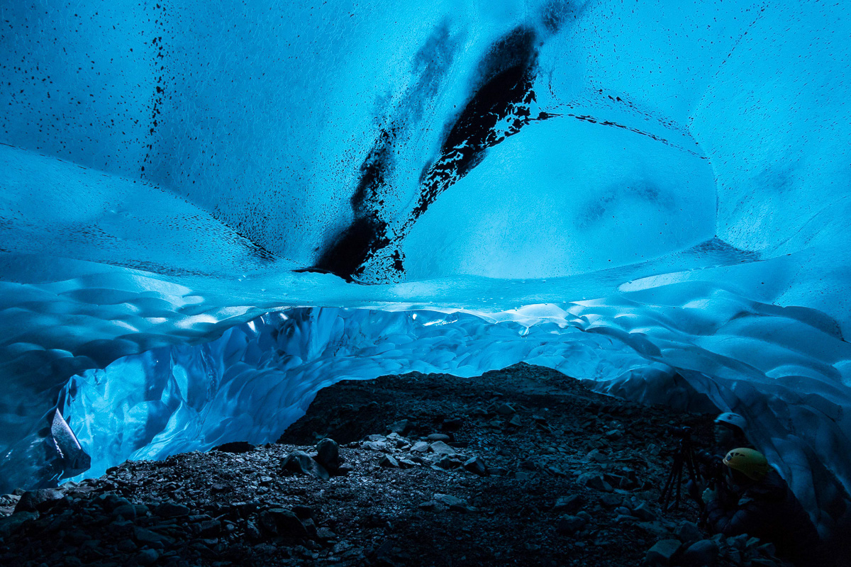 These pictures of the frozen world of the Vatnajökull Glacier were made possible through Sony's new sensor technology, allowing incredibly detailed low-light photography. Renowned local guides Einar Runar Sigurdsson and Helen Maria explored the frozen world of the Vatnajökull Glacier in Iceland using Sony's latest digital cameras, the RX10 II and RX100 IV, which feature the world's first 1.0 type stacked Exmor RS CMOS sensor. This picture: The ABC cave For further information please contact Rochelle Collison at Hope & Glory PR on 020 7014 5306 or at rochelle.collison@hopeandglorypr.com Copyright: © Einar Runar Sigurdsson / Sony