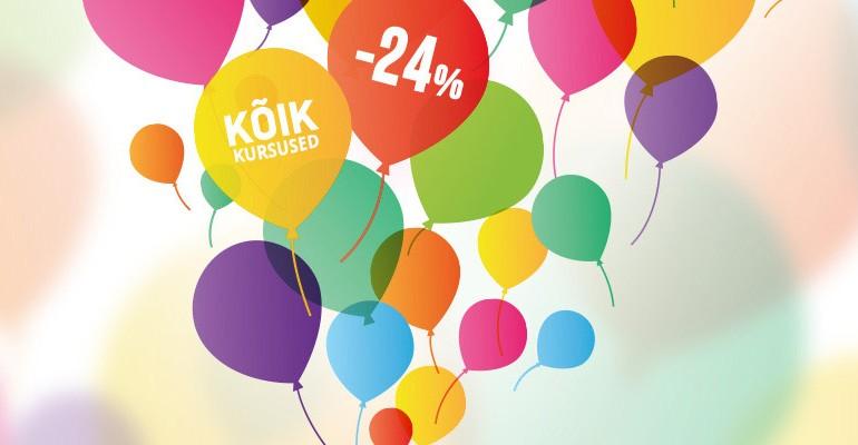 Photopointi 24. sünnipäeva puhul on kõik fotokursused 24% soodsamad
