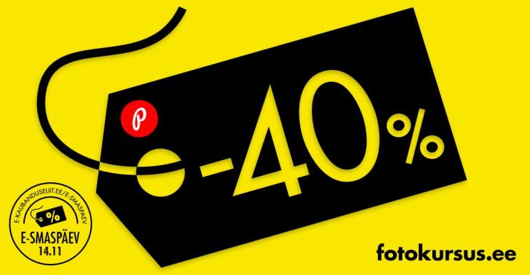 Ainult 24h – suur e-ostlemise päev Fotokursus.ee õpikeskkonnas